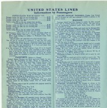 Image of pg 10 United States Lines, Information to Passengers
