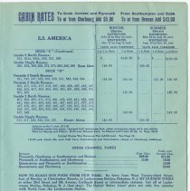 Image of pg 5 S.S. America; directions to piers in Hoboken