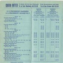 Image of pg 6 S.S. President Harding; S.S. President Roosevelt