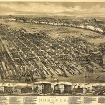 Image of Map: The City of Hoboken, New Jersey, 1881. By O. H. Bailey & A. Ward. - Map