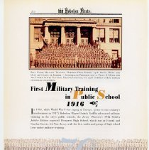 Image of pg 82: 70. First Military Training in Public School 1916