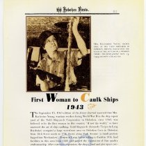 Image of pg 95: 82. First Woman to Caulk Ships 1943