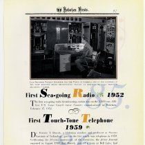 Image of pg 97: 85. First Sea-going Radio 1952; 86. First Touch-tone Telephone 1959