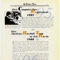 Image of pg 105: 95. 1st Computer Class Requirement; 96. 1st Baseball...Russia 1988