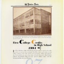 Image of pg 107: 97. First College Credits in High School 1994