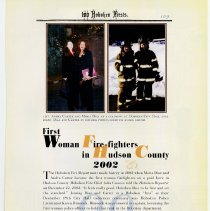 Image of pg 109: 99. First Woman Fire-fighters in Hudson County 2002
