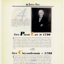Image of pg 4: 4. First Patent Law 1790; 5. First Crysanthemum 1798