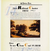 Image of pg 14: 14. First Railroad Charter 1815; 15. First to Use Clean Coal 1818