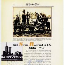 Image of pg 16: 17. First Steam Railroad in U.S. 1825