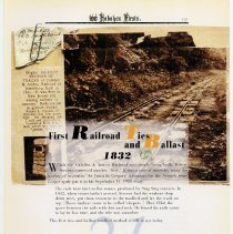 Image of pg 19: 21. First Railroad Ties and Ballast 1832