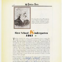 Image of pg 38: 33. First School Kindergarten 1861