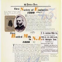 Image of pg 51: 43. First Society of Engineers 1880; 44. 1st Bottled Milk in NJ 1880