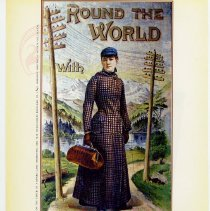 Image of pg [58]: 49. First Woman around the World 1889;  illus. Nellie Bly poster