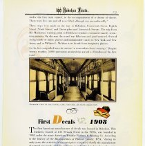 Image of pg 73: 62. First Subway & First Passenger; 63. First Decals 1908