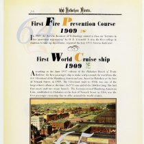 Image of pg 76: 64. First Fire Prevention Course 1909; 65.1st World Cruise Ship 1909