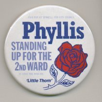 Image of button 1: Phillis Spinelli, Second Ward City Council