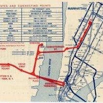 Image of detail side 2, Hudson & Manhattan Railroad map (H & M; Hudson Tubes)
