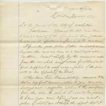 Image of Letter from Mayor Peter McGavisk, Hoboken, to City Council, Jan. 13, 1874, re taking action to find methods and costs of Meadows drainage. - Correspondence