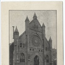 Image of reference image: postcard First Reformed Church before fire 2006.034.0415