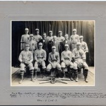 Image of full print & mount: 1920 Hoboken High School baseball team