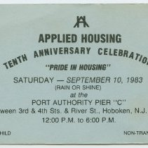 Image of Applied Housing Tenth Anniversary 1983