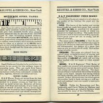 Image of pp 86-87: Wyteface Steel Tapes; Band Chains; Woven Tapes; Field Books