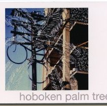 Image of Artist bookwork: hoboken palm trees. Manipulated SX-70 Polaroids, Hoboken, N.J. 1986. Bruce Tamberelli, 2013. - Artwork