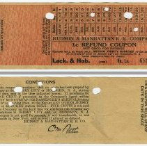 Image of refund coupon: front and back