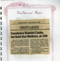 Image of Press Notes and Memos; Jersey Journal obituary Oct. 23, 1998