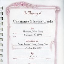 Image of 3rd printed leaf: In Memory of Constance Stanton Cooke