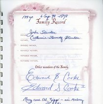 Image of Family Record