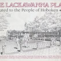 Image of Poster: Erie Lackawanna Plaza. Dedicated to the People of Hoboken, 1984. - Poster