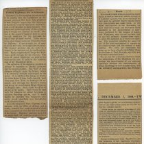 Image of clippings from left: 1, 2 & 3