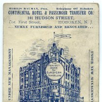 Image of Postcard: Continental Hotel & Passenger Transfer Co., 101 Hudson St., Hoboken, N.J. Postmarked May 20, 1913. - Postcard