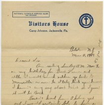 Image of letter 2, pg [1]: Admiral Benson Club (Visitors House), March 2, 1919