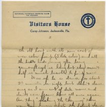 Image of letter 2, pg 2: Admiral Benson Club (Visitors House), March 2, 1919