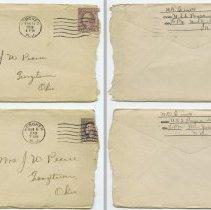 Image of envelopes: letter 1 top