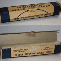 Image of Cut-Rite Waxed Paper. Original printed cardboard package with contents. Elizabeth, N.J., no date, circa 1928-1930. - Box
