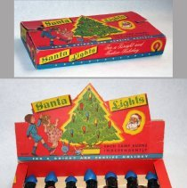 Image of Santa Lights. Distributed by Universal Folding Box Co., Hoboken. N.d., ca. 1949-1953.  - Box