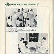 Image of pg 104, photos 14 & 15: psychometric flavor testing; Tachistoscope