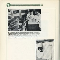 Image of pg 108, photos 16 & 17: Toxicology Laboratory; tropical climate cabinet