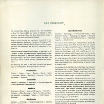 Image of inside front cover: The Company [brief overview]