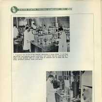 Image of pg 6, photos 1 & 2: chemical laboratory general view; Paint Laboratory