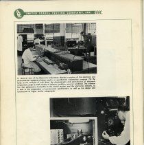 Image of pg 32, photos 5 & 6: Electronics Laboratory; Acceleration Test Equipment