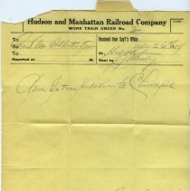 Image of 5: Work Train Order no. 3, July 26, 1918