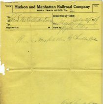 Image of 6: Work Train Order no. 3, July 28, 1918