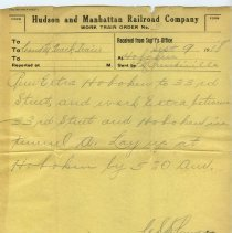 Image of 7: Work Train Order no. 3, Sept. 9, 1918