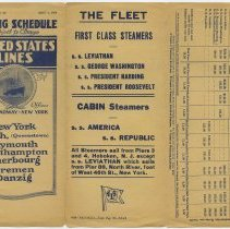 Image of full outside: includes fleet list and Hoboken piers used