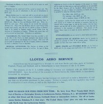 Image of pg 10: Lloyds Aero Service; How to Reach Our [Hoboken] Piers From New York