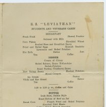 Image of pg [3] S.S. Leviathan, Students and Veterans Cabin menu